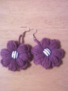 crocheted flower earrings pattern #afs 7/5/13