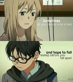 Anime: Your Lie In April.  #animequotes #quotes #relatable #animefeels
