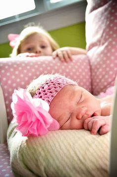 A.S.W. Newborn  Nursery  Sister  Copyright Amber S. Wallace Photography
