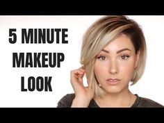 Today, I am going to show you how I create this easy 5 minute makeup look. Everyone needs a quick and easy makeup tutorial. Especially something practical f. Blue Smokey Eye, Simple Makeup Looks, Simple Eye Makeup, Edgy Makeup, Makeup For Brown Eyes, Nose Makeup, Make Up Looks, Bobbi Brown, Quick Makeup Routine