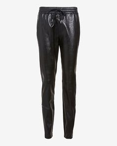 Barbara Bui | Leather Drawstring Track Pant in black