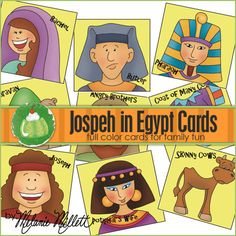 JOSEPH in EGYPT Match Card Game  by GreenJelloWithCarrot on Etsy, $2.00