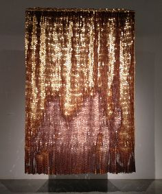 """One of the pieces from the exhibit """"Olga de Amaral: Selected Works,"""" which was on view at the Louise Blouin Foundation, at 3 Olaf Street, London, from October 14-30, 2013. #textile"""
