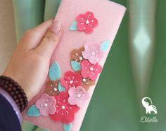 felt Sakura long wallet