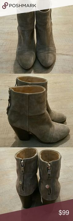 Rag & Bone classic Newbury suede booties Mostly great condition, minus one part of boot where there are a few pinpoint pen marks. Very subtle! See pic. Price reflects the imperfection. rag & bone Shoes Ankle Boots & Booties