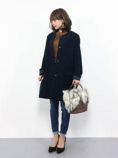 coenのその他アウター「ライトメルトンノーカラーコート」を使ったeriko(ZOZOTOWN)のコーディネートです。WEARはモデル・俳優・ショップスタッフなどの着こなしをチェックできるファッションコーディネートサイトです。