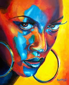 Nightcall by Laura Ferreira Nightcall by Laura Ferreira Sandra Schneider ART Nightcall by Laura Ferreira Colourful portrait painting of Trinidadian girl Buy nbsp hellip Painting girl Art And Illustration, Illustrations, Kunst Inspo, Art Inspo, African American Art, African Art, Black Girl Art, Black Women Art, Black Artwork