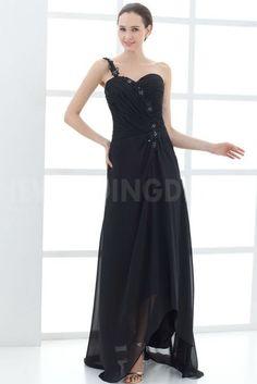 Black Satin One-shoulder Mother Of Bride Dresses - Order Link: http://www.theweddingdresses.com/black-satin-one-shoulder-mother-of-bride-dresses-twdn4991.html - Embellishments: Beading; Length: Floor Length; Fabric: Satin; Waist: Natural - Price: 169.9336USD