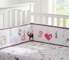 Animal Alphabet Nursery Bedding Pottery Barn Kids This Could Be Stella S Room Mrs Crafty Pants Pinterest And