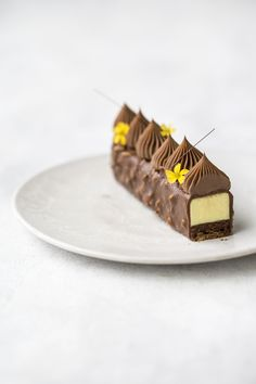 Ferrero rocher meets passion fruit Passion fruit spam these days. Can you forgive me? Passion Fruit Mousse, Passion Fruit Cake, New Year's Desserts, Plated Desserts, Chocolate Ganache Tart, Chocolate Desserts, Pastry Recipes, Cake Recipes, Pastry Design