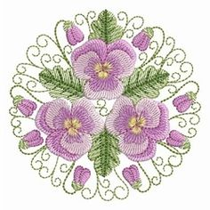 Pansy Beauty 5 - 4x4   What's New   Machine Embroidery Designs   SWAKembroidery.com Ace Points Embroidery