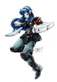 http://optimuspraino.deviantart.com/art/Nova-Satori-644984129 Nova Satori by OptimusPraino : From Southern Cross Robotech Masters for the Robotech Challenge, inks and copics, then digital touch up for colors.