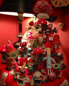 Musings from Kim K.: My Christmas toadstool and gnome collection