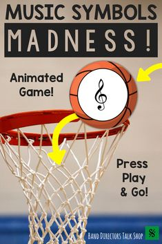Teachers, are you looking for a fun music lesson or activity for March Madness? This Music Madness Music Symbols game is for you! Students will love the animated Power Point game! Music symbols bounce in & students record their answers on basketball music Music Theory Games, Music Education Games, Music Theory Worksheets, Rhythm Games, Music Activities, Music Games, Fun Music, Music Stuff, Music Lesson Plans