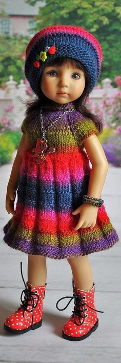 Knitted Dress & Cap for Little Darling~Effner