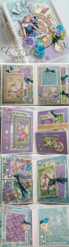 It's all in the details!! Reneabouquets Design Team Artist~Terry Nelson created this magical Graphic 45 Fairie Dust Mini Album and the details on the inside and outside of this mini album are just amazing! Created with products that you can find at Reneabouquets: http://www.Reneabouquets.com or here: http://www.Etsy.com/shop/Reneabouquets