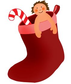 Merry Christmas Clipart With Santa Claus And His Elf Presents Trees