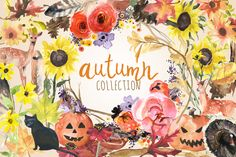 Watercolor Autumn Collection by Digital Press Creation on Creative Market