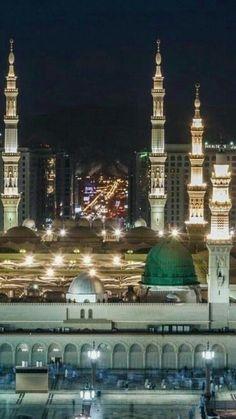 The City of The City -> Madina Tul Munawara Al Masjid An Nabawi, Mecca Masjid, Masjid Al Haram, Mecca Wallpaper, Islamic Quotes Wallpaper, Islamic Images, Islamic Pictures, Alhamdulillah, Beautiful Mosques