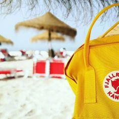 my yellow kanken. #kanken #fjallraven