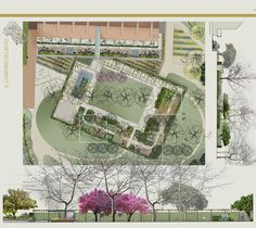 Healing garden for a hospital in Italy Makale 3 Landscape Plans, Urban Landscape, Landscape Design, Garden Design, Path Design, Green Man, Fort Lauderdale Beach, Hospital Design, Garden Architecture