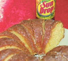 Sun Drop Cake - great use for all that free Sun Drop I am collecting!