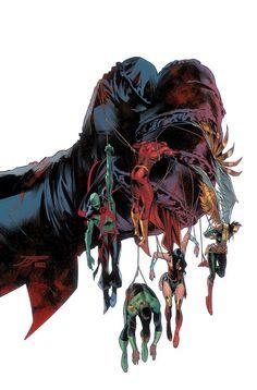 Justice League by Jorge Jimenez, colours by Alejandro Sanchez * Online Comic Books, Comic Books Art, Comic Art, Book Art, Comic Book Characters, Comic Character, Hawkgirl, Marvel, Dc Comics Art
