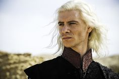 """Viserys Targaryen (Harry Lloyd) is the great-great-great grandson of Charles Dickens. 