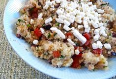 warm greek quinoa salad