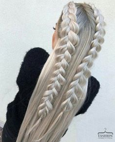 This post contains the most amazing braided hairstyles. These braids will make your hair looks fabulous, attractive and most of all charming Box Braids Hairstyles, Pretty Hairstyles, Wedding Hairstyles, Braided Hairstyles For Long Hair, Hairstyles 2018, Teenage Hairstyles, Hairstyle Ideas, Formal Hairstyles, Hairdos