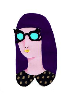 There are cat-eye glasses, and then there's this. Illustration by Irana Douer.