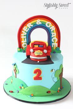 Wiggles big red car cake www.stylishlysweet.com.au