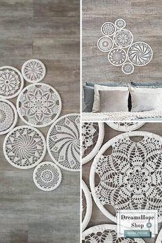 Boho Bedroom Decor, Bedroom Themes, Home Wall Decor, Crochet Wall Art, Yarn Wall Art, Weaving Wall Hanging, Tapestry Wall Hanging, Country House Interior, Farmhouse Interior