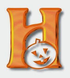 Alfabeto de Halloween con letras color naranja. | Oh my Alfabetos!