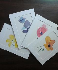 4 Original Watercolour-Painted Greeting Cards by by MyCoveArt Watercolour Painting, Greeting Cards, The Originals, Frame, Creative, Handmade, Paintings, Etsy, Home Decor