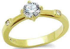 Alimab Jewelery Rings Gold Plated Womens Promise Rings Round ** Don't get left behind, see this great  product : Promise Rings