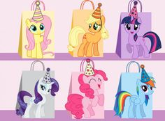My Little Pony DIY Favor Bag Template Party Bags Printable