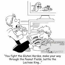 Image result for food allergy cartoons