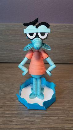 Skalmar ze Spongeboba (quilling)