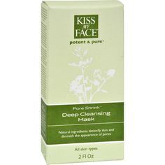 Kiss My Face Deep Cleansing Mask Pore Shrink - 2 fl oz - Kiss My Face Deep Cleansing Mask Pore Shrink Description: Potent and Pure Organic Ingredients Detoxify Skin and Diminish the Appearance of Pores All Skin Types This deep cleaning clay mask helps to remove oils and bacteria from the skin. Cloves, tea tree, lemongrass and other natural organic and aromatherapeutic botanical extracts clean and smooth skins appearance. Free Of Parabens, phthalates, SLS, artificial colors, artificial…