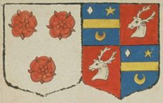 Feu Claude LEGIER, escuier, conseiller honoraire au présidial de Poitou, suivant la déclaration de Geneviève DE BLACVOD, sa veuve. Portent : d'argent, à trois roses de gueules, deux et une ; acolé d'azur, à une fasce d'or, accompagnée en chef d'une lozange d'argent à dextre, d'une étoile d'or à senestre, et en pointe d'un croissant d'argent ; écartelé de gueules, à une tête de cerf d'argent, coupée et posée de profil | N° 138