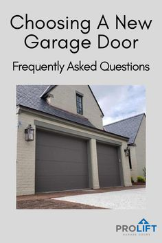 Choosing A New Garage Door: Frequently Asked Questions Garage Door Framing, Glass Garage Door, Garage Door Design, Garage Doors, Traditional Doors, Coach House, Carriage House, Crossover, Midcentury Modern