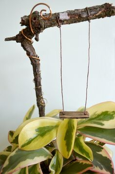 Miniature Garden Swing for Fairies