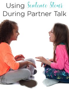 Partner talk is an important piece of helping students solidify their learning and practice academic vocabulary. Using sentence stems helps support students in this in various ways. I love the tips this teacher shares!