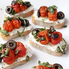 Ingredient Greek Crostini with Garlic Whipped Feta & Blistered ...