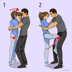 7 Self-Defense Techniques For Women Recommended By A Professional Here are seven self defense techniques for women to protect themselves in the case of a male attacker by Victor Lyalko who is a martial arts expert. Survival Life Hacks, Survival Tips, Survival Skills, Survival Weapons, Techniques D'autodéfense, Self Defense Techniques, Krav Maga Techniques, Self Defense Moves, Self Defense Weapons