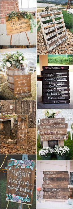 18 Rustic Budget-Friendly Rustic Wedding Signs Ideas - #Weddings #Weddingideas #Weddingsigns #weddingdecorations