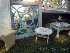 Pretty re-do's of old furniture #DIY #home #decor