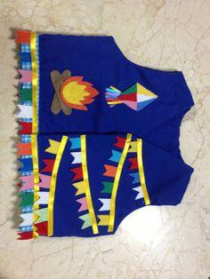 Resultado de imagem para decoração de festa junina balão Baby E, Party Time, Projects To Try, Patches, Lily, Origami, Clothes, Flower Tutorial, Ethnic Dress