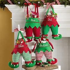 Jingle Bell Elf Pants Stocking | Personal Creations. I bought these for all my grandchildren this year. They are great!
